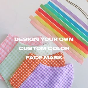 DESIGN YOUR OWN GINGHAM FACE MASK